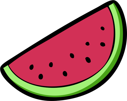 Watermelon slice wedge vector image vectors clipart