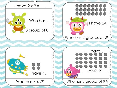 3 oa 1 have who has arrays and multiplication game bought clipart