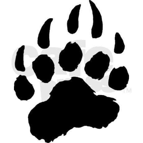 Bear paw print bear cub paw print clip art