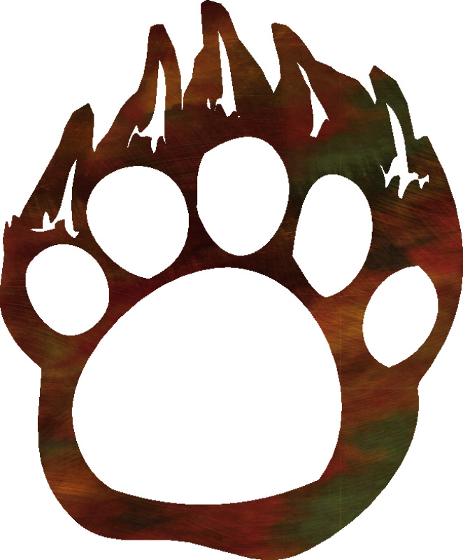 Bear paw print bear paw outline free download clip art on 2 clipart