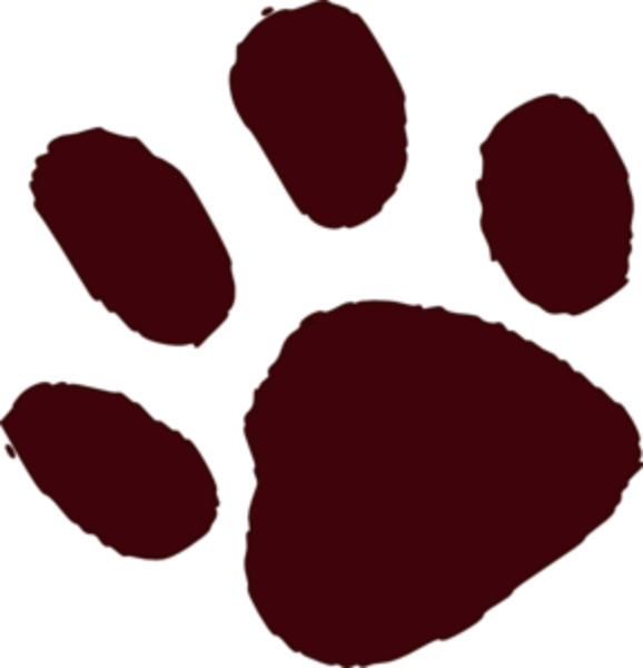 Bear paw print brown paw print md free images at vector clip art