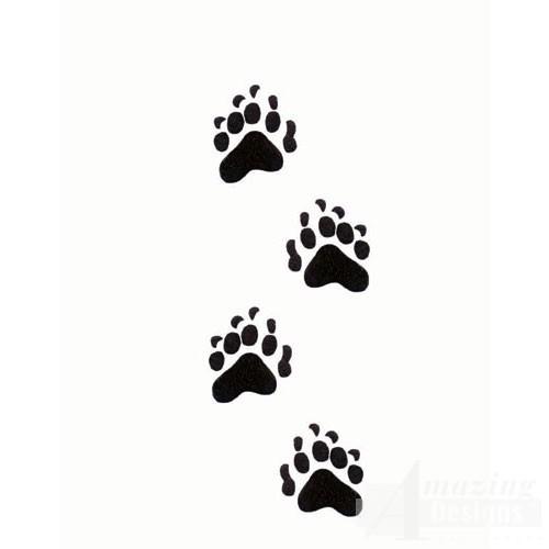 Bear paw print paw prints clipart