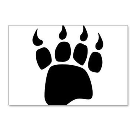 Bear paw print postcards post card design template clip art