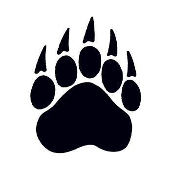 Bear paw print temporary tattoo clipart