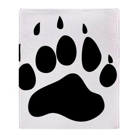Bear paw print throw blankets fleece clip art