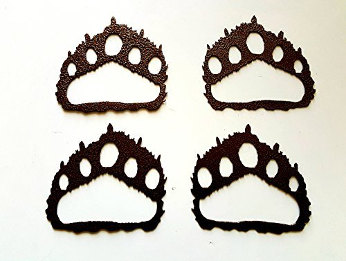 Bear paw prints clipart