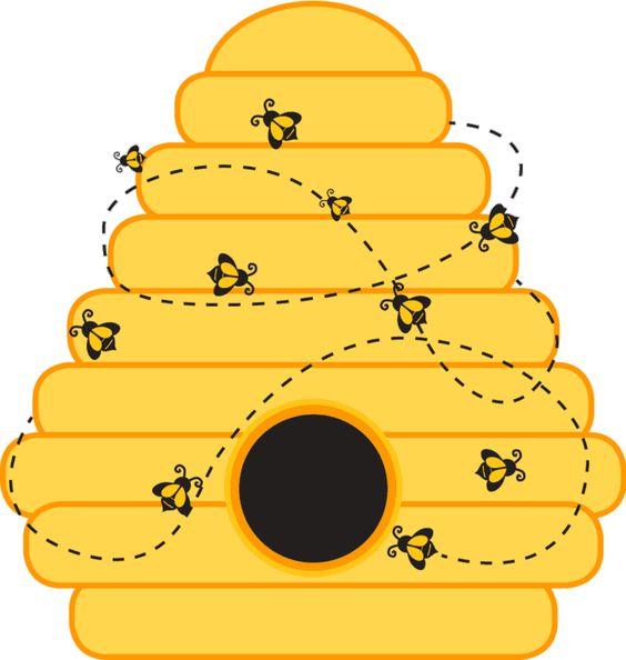 Bee hive template printable beehive clip art