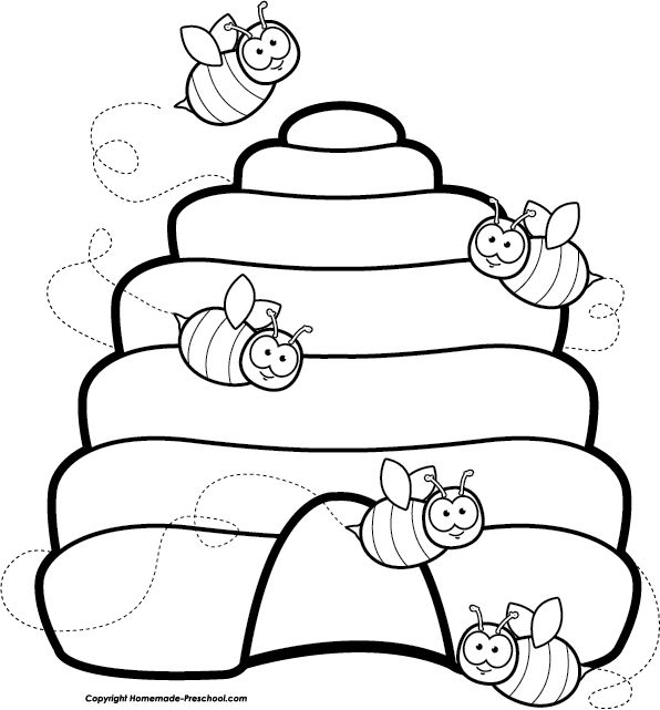 Beehive bee clipart ideas on bumble bee images cute 3
