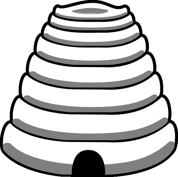 Beehive bee hive clip art at vector clip art