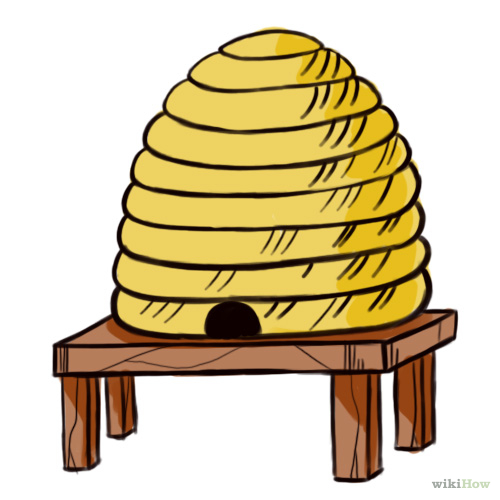 Beehive bee hive clip art clipart image