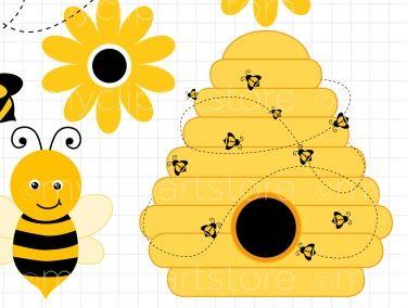Beehive bumble bee cartoon ideas on bee clipart