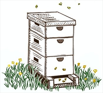 Beehive clipart 2 image