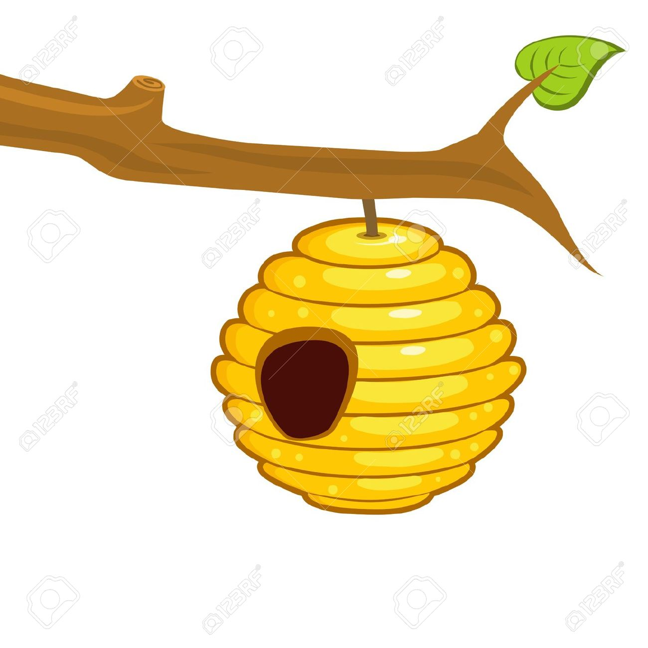 Beehive clipart 3