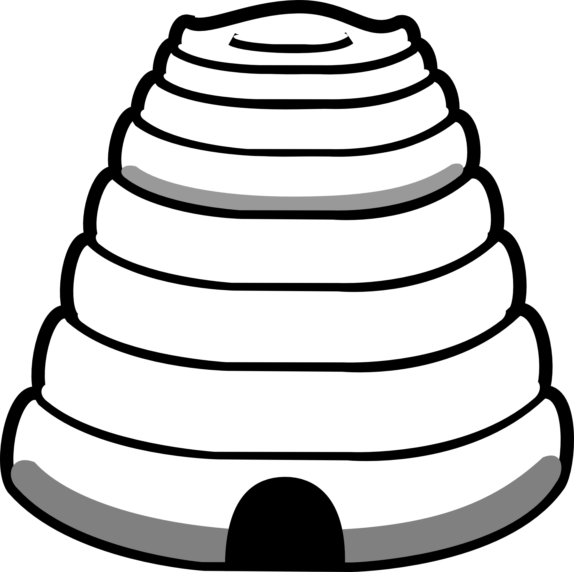 Beehive clipart 4