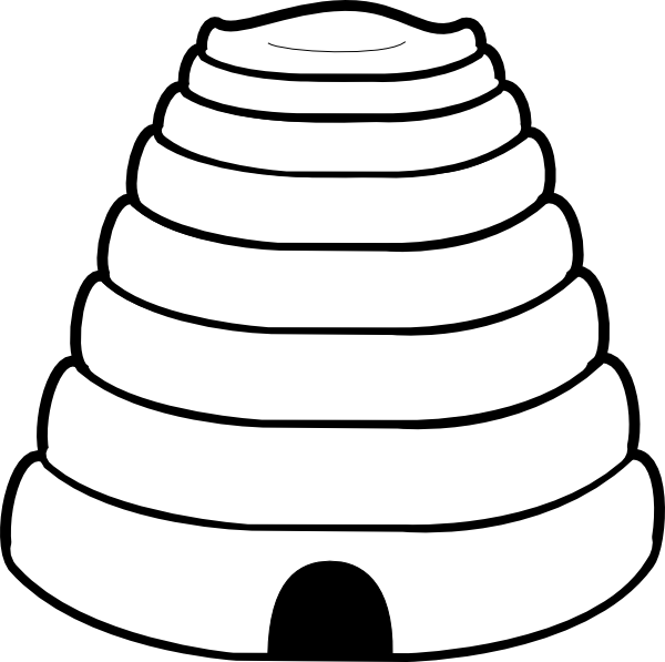 Beehive clipart 9