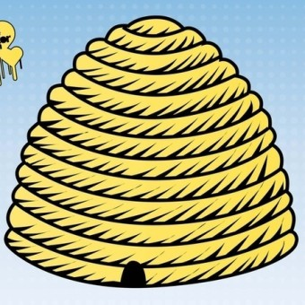 Beehive clipart black and white free image