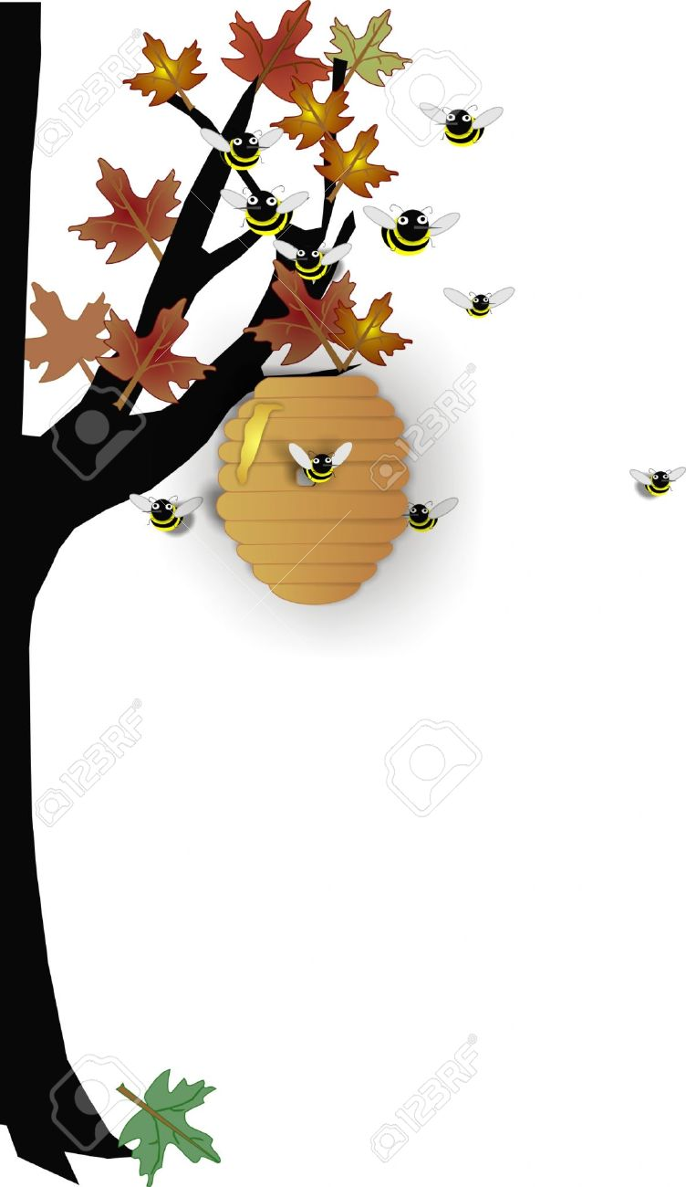 Beehive from tree clipart bbcpersian7 collections