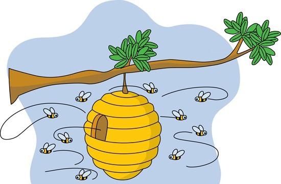 Beehive honey bee hive 2 clipart