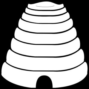Beehive honey bee hive 3 clipart