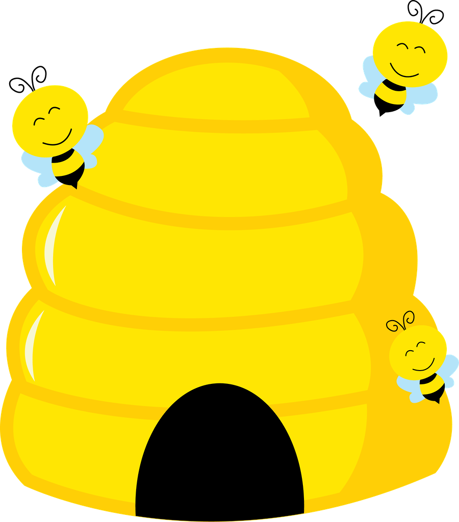 Beehive top hive clip art free clipart image