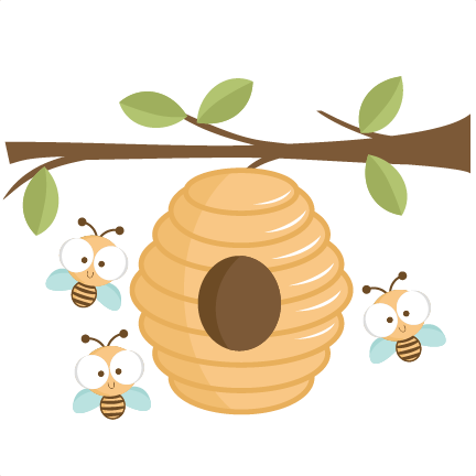 Beehive vintage bee hive clip art