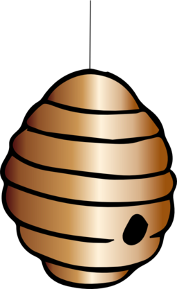 Beehive vintage bee hive clipart image