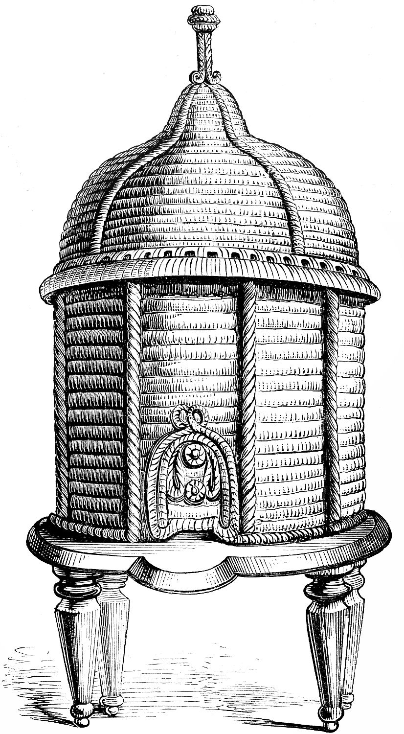 Beehive vintage clip art ornate bee hive bees clip art and