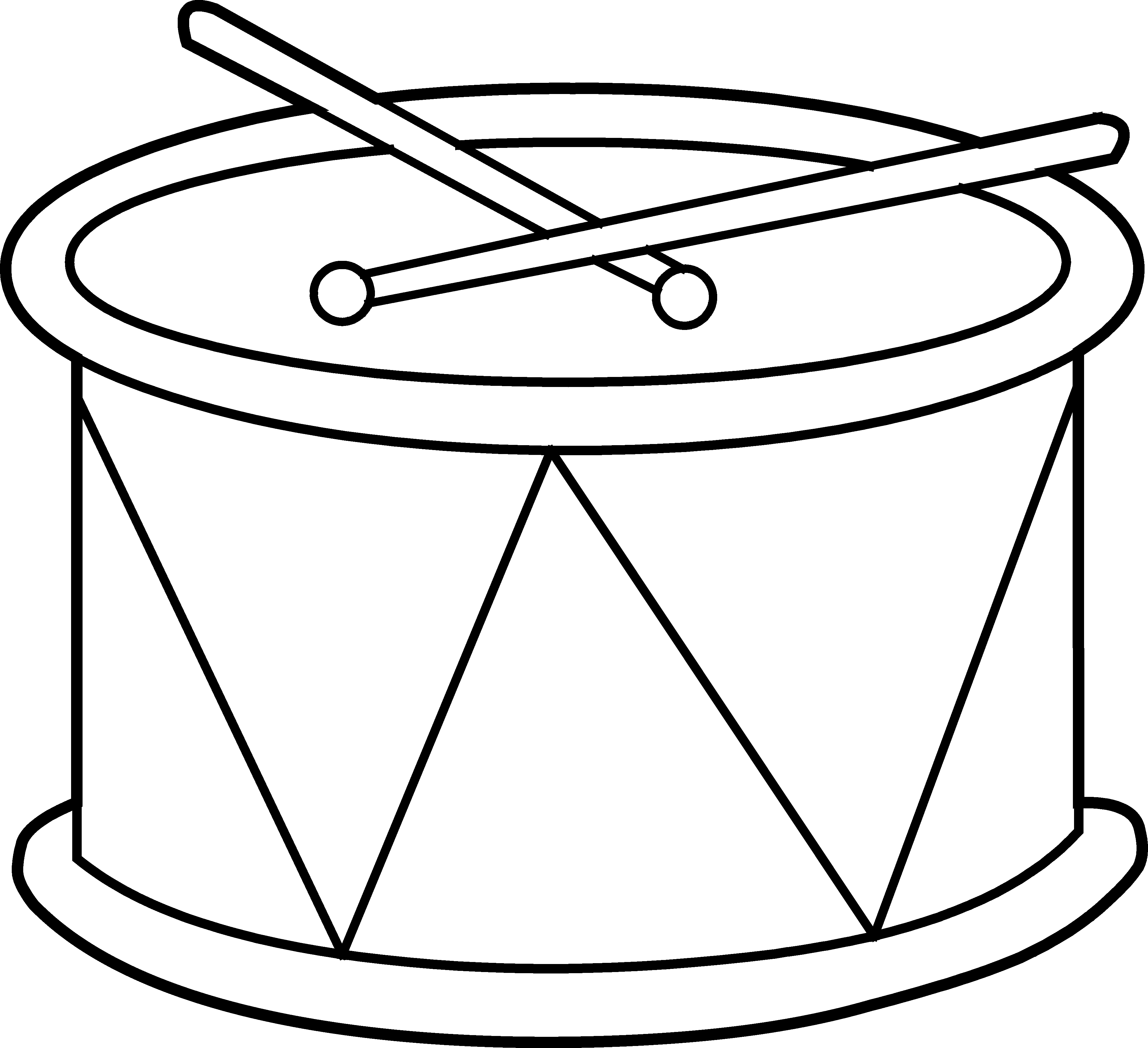 Black and white drum clipart cliparts others art inspiration