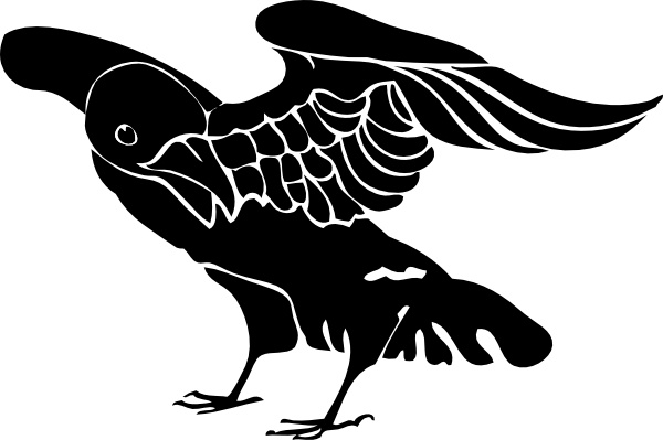 Black crow clip art free vector in open office drawing svg