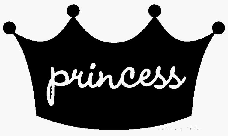 Black princess crown clipart
