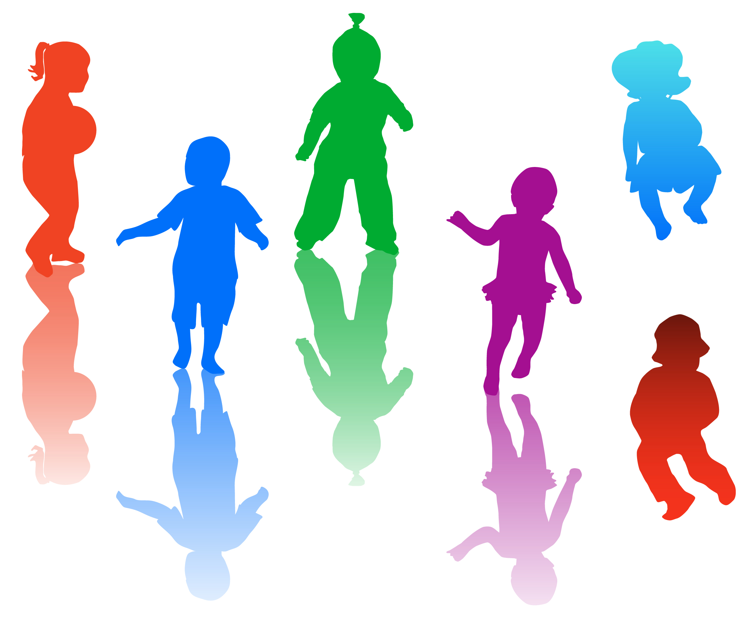 Children playing clip art free clipart images