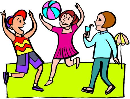 Children playing kids playing fun clipart