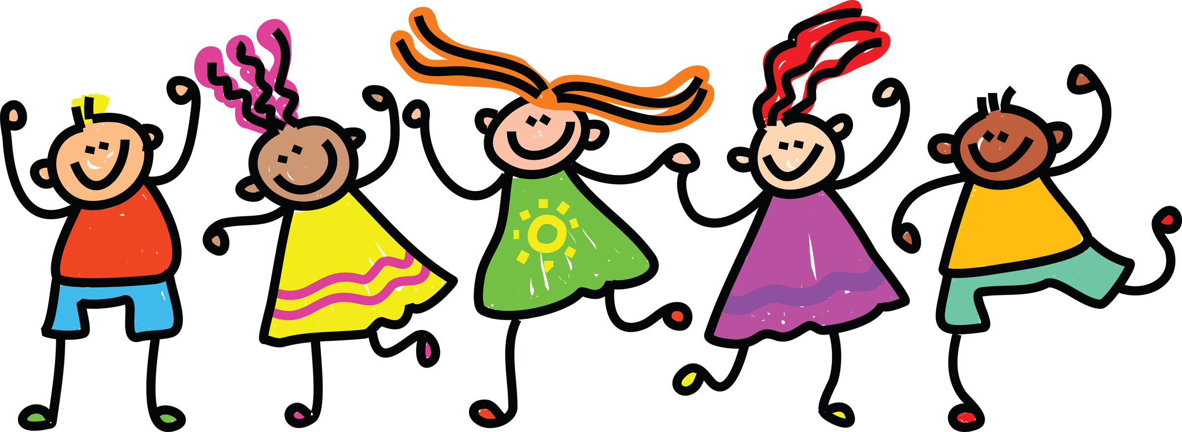 Children playing kids playing summer clipart free images