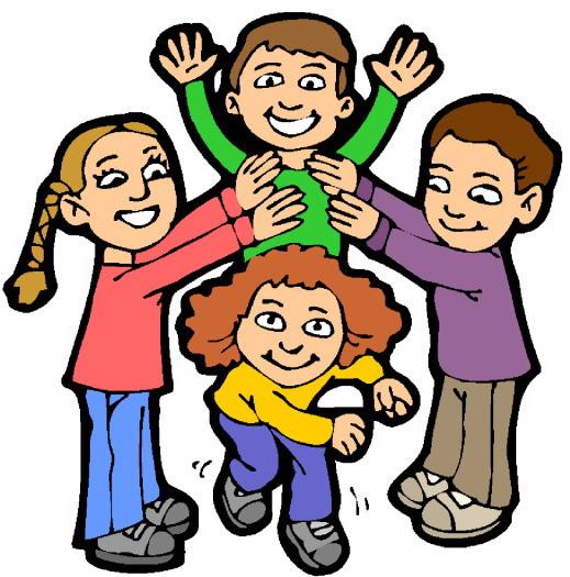 Children playing kindergarten 2 clipart