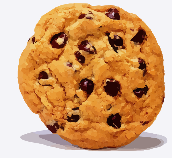 Chocolate chip cookie clip art at vector clip art