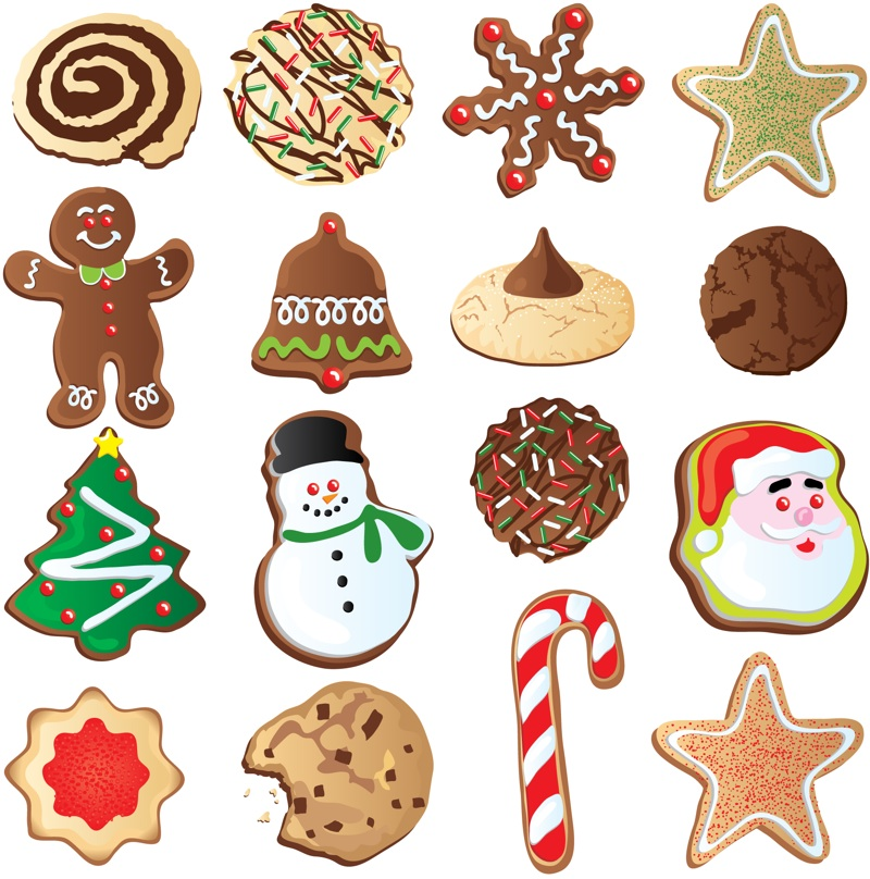 Christmas cookie decorating clip art