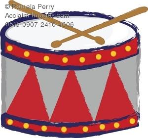 Clip art a child'drum