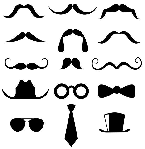 Clip art mustache clipart 3