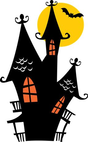 Clipart halloween fall images on leaves