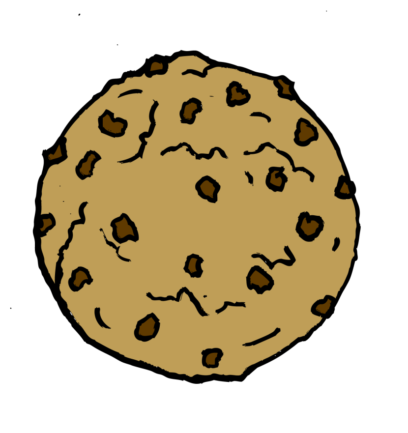 Cookie chocolate chipokie clipart