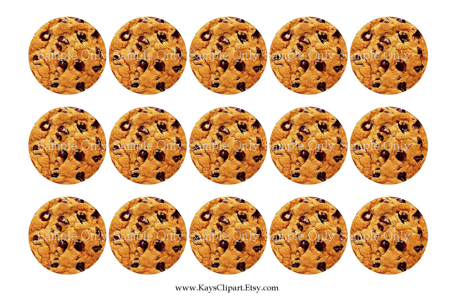 Cookie clipart printable pencil and in color cookie