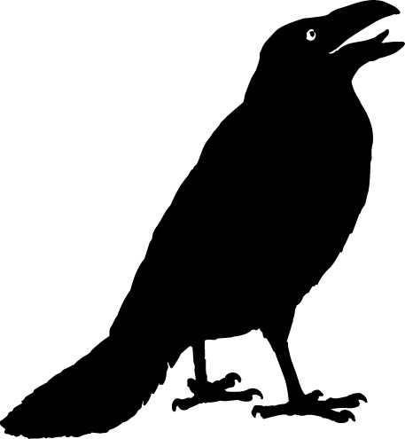 Crow clip art black and white free clipart images clipart