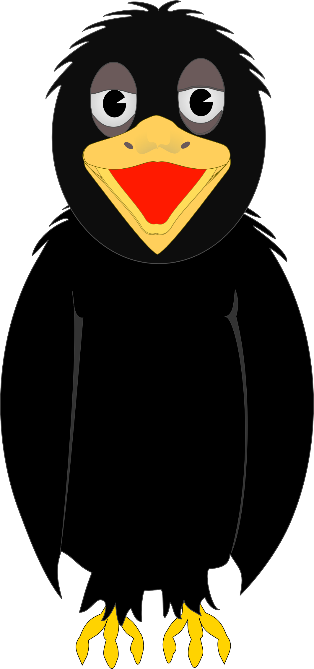 Crow clipart hostted clipart