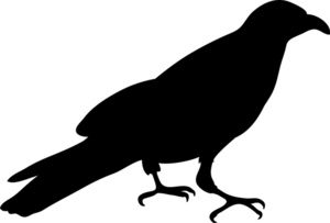 Crow clipart image silhouette of a or raven in black