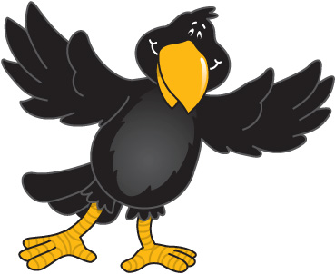 Crow cow clip art free cartoon clipart images