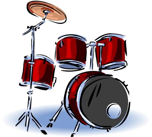 Drum set cliparts the
