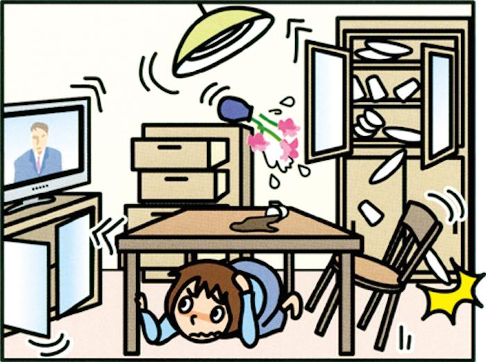 Earthquake preparedness japan style info clip art