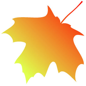 Fall leaves clip art black and white 2 image