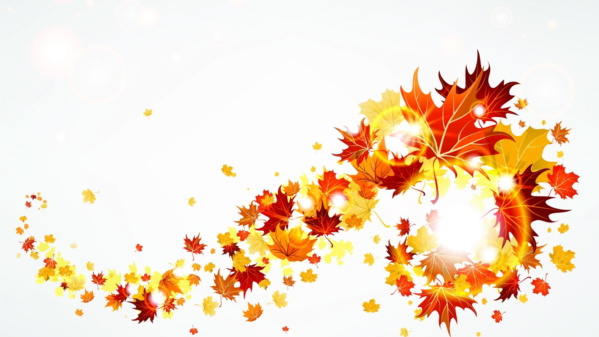 Fall leaves clipart 2