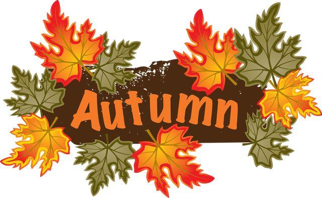 Fall leaves colorful clip art for the fall season autumn